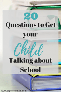 Questions to get your child talking about school. Use these questions to get more than a 1 word answer. Start having a better conversation about school.