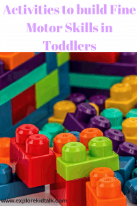 Pile of large legos. Legos help to build fine motor skills in toddlers.