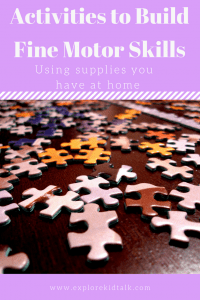 Small puzzles pieces to help build fine motor skills