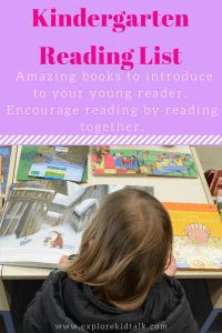Kindergarten Reading List