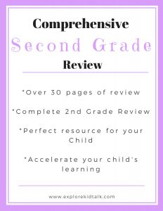 Second grade review packet