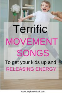Boy jumping. Movement songs for kids