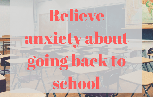 How to help a child with anxiety about going back to school