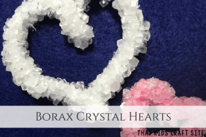 Crystal hearts for valentines crafts for kids
