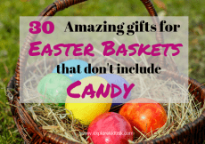 Basket with colored eggs to help find the best gifts for Easter that don't include candy.