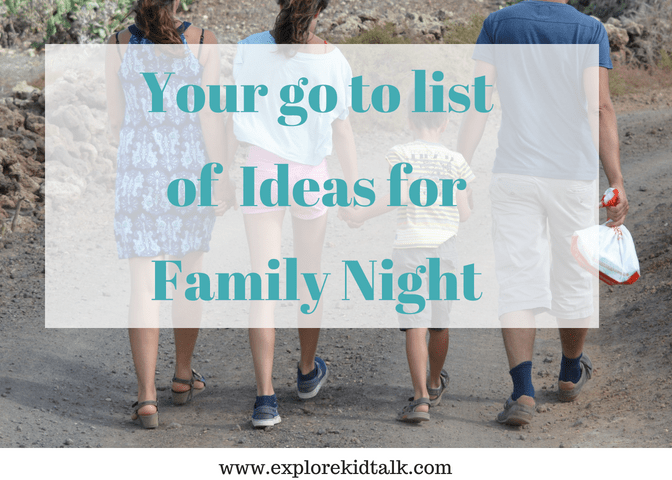 Terrific family night ideas to enjoy together