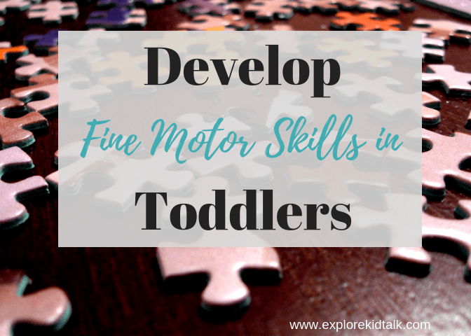 Activities to Develop fine motor skills in Toddlers. Easy, simple and free activities you can do at home.