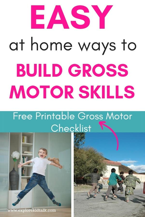 Easy ways to build gross motor skills at home. Kids running