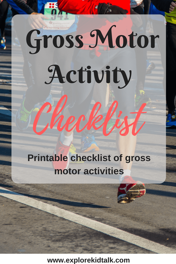 Gross Motor activities for children