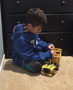 Top toys for kids that like to build. A truck building set.