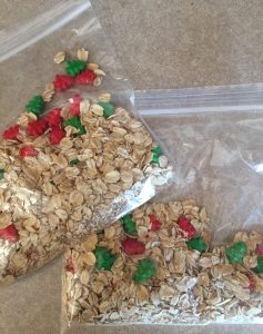 Get Reindeer Food Ingredients and a Poem for the kids to say on Christmas Eve.