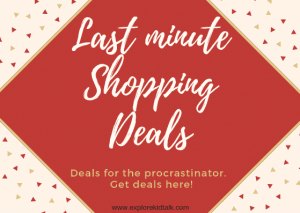 Last minute shopping deals perfect for the procrastinator.