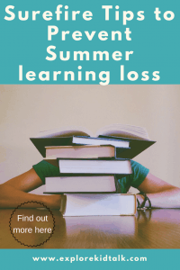 Tips to Prevent Summer Loss.