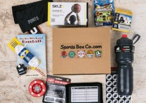 Sports gift box as a non toy gift for kids