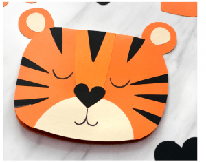 Tiger card kids can make for Valentine Crafts