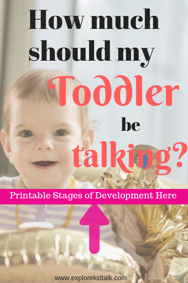 Baby smiling. Learn language development and how much should your toddler be talking