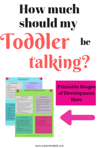 Banner of development guides to help understand how much should my toddler be talking