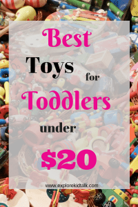 Best Toddler toys under $20. Get educational and fun toys for your toddler without breaking the bank. Learning doesn't have to be expensive.