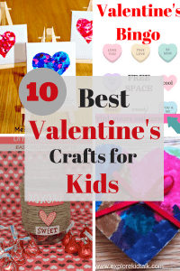 Heart canvas- heart bingo- wood heart. Valentine Crafts for kids that anyone can make.