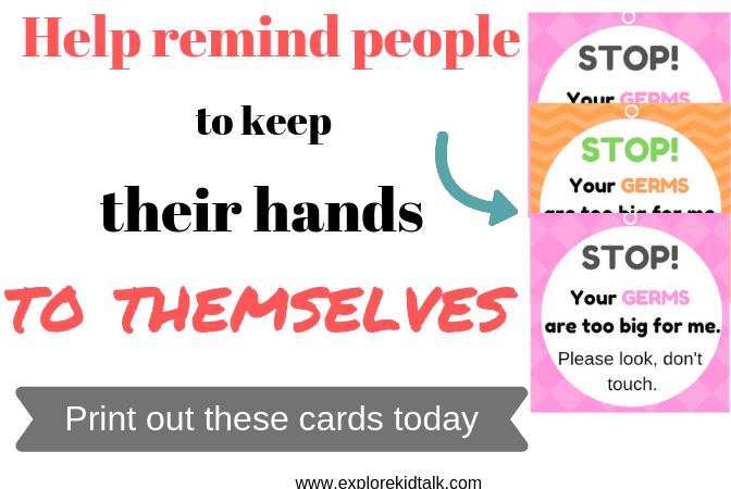 Please don't touch my baby printable cards