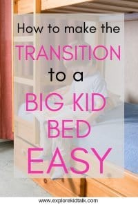 Little boy reading on a big kid bed. Ways to transition your child to a big kid room
