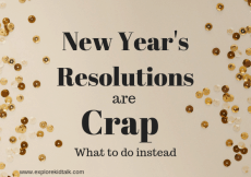 Reasons not to make resolutions and what to do instead. The majority of the time resolutions don't last. Commit to yourself this year and start off without any pressure.