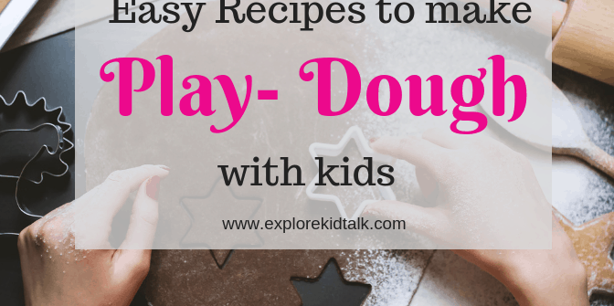 5 Easy Recipes to make Dough and Clay with Young Children. Recipes you can make in under 15 minutes.