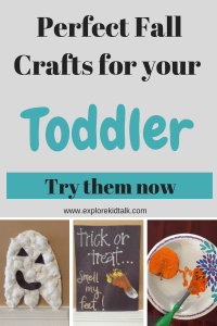 Simple fall crafts your toddler can do at home. Fall crafts for kids. Easy crafts for toddlers.