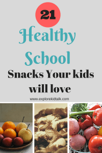 Healthy School Snacks your kids will love. After school snacks and a shopping list included.