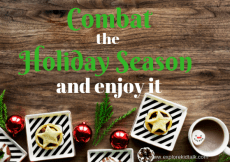 Simple steps to combat holiday craziness and ways to enjoy it as well. Find what makes you happy and get back to enjoying the holiday time.