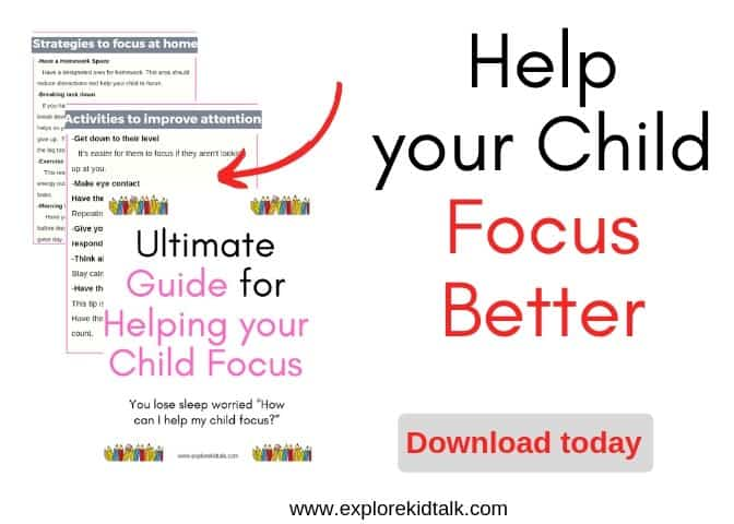 Guide to help your child focus