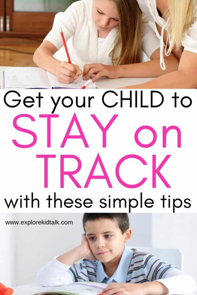 Child not being able to do their work. Tips to help your child focus at home and at school