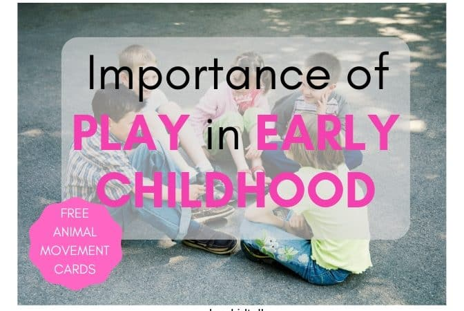 importance of play in early childhood. Children sitting and playing