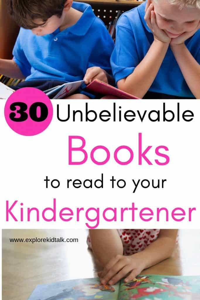 Children sitting and reading. Best books to read before Kindergarten