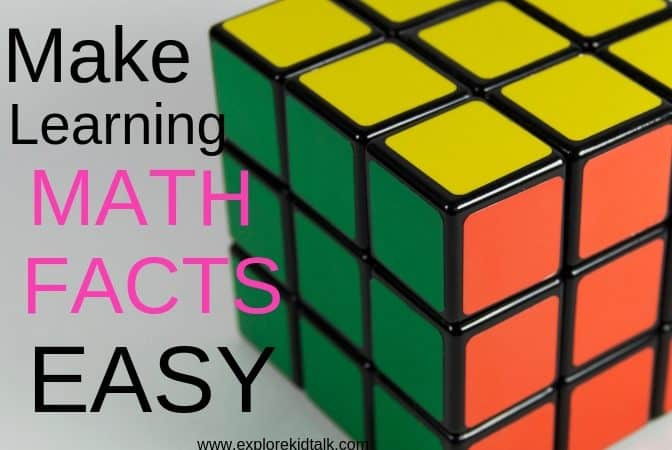 A rubrics cube to help make learning math facts fun