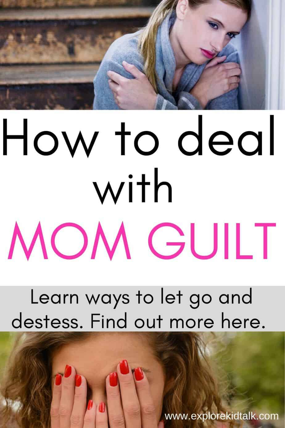 Mom guilt is real. Woman covering her face.