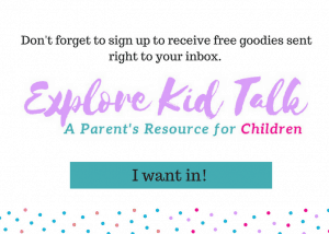 Sign up to join Explore Kid Talk