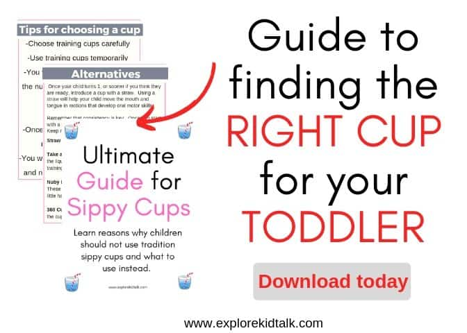 No more sippy cups.  Finding the right cup for your toddler