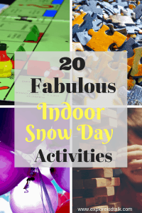 Indoor snow day activities that the whole family can enjoy. When stuck inside look no further for great activities to keep the whole family busy and happy. Tech-free activities to have fun and enjoy.