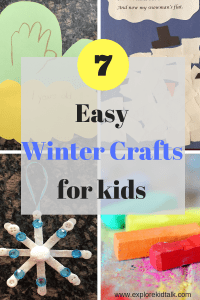 7 Easy winter crafts for kids.